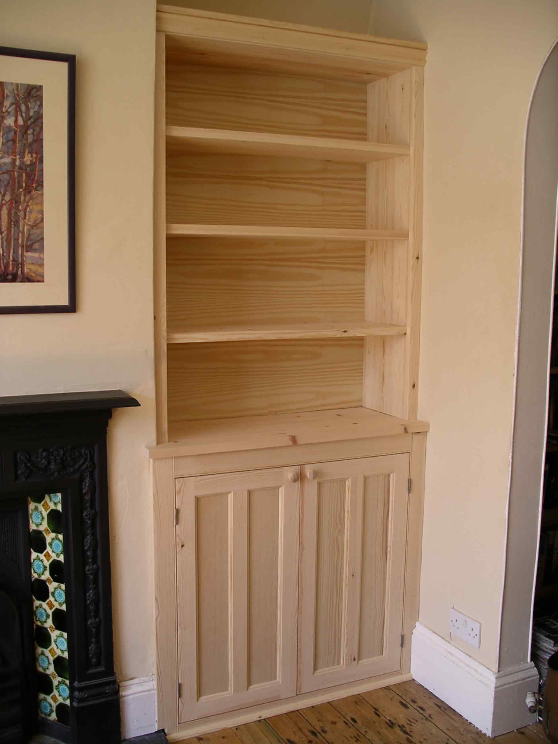 Alcove Cupboards In Pine By Peter Henderson Furniture
