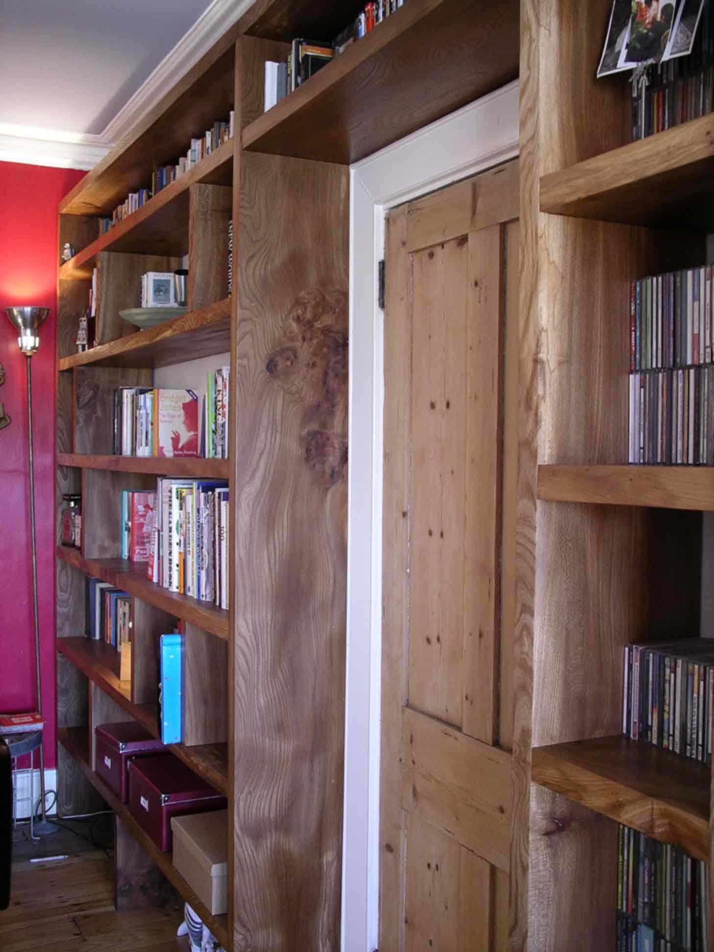 English Elm Bookcase Bespoke Made By Peter Henderson Furniture Brighton Uk