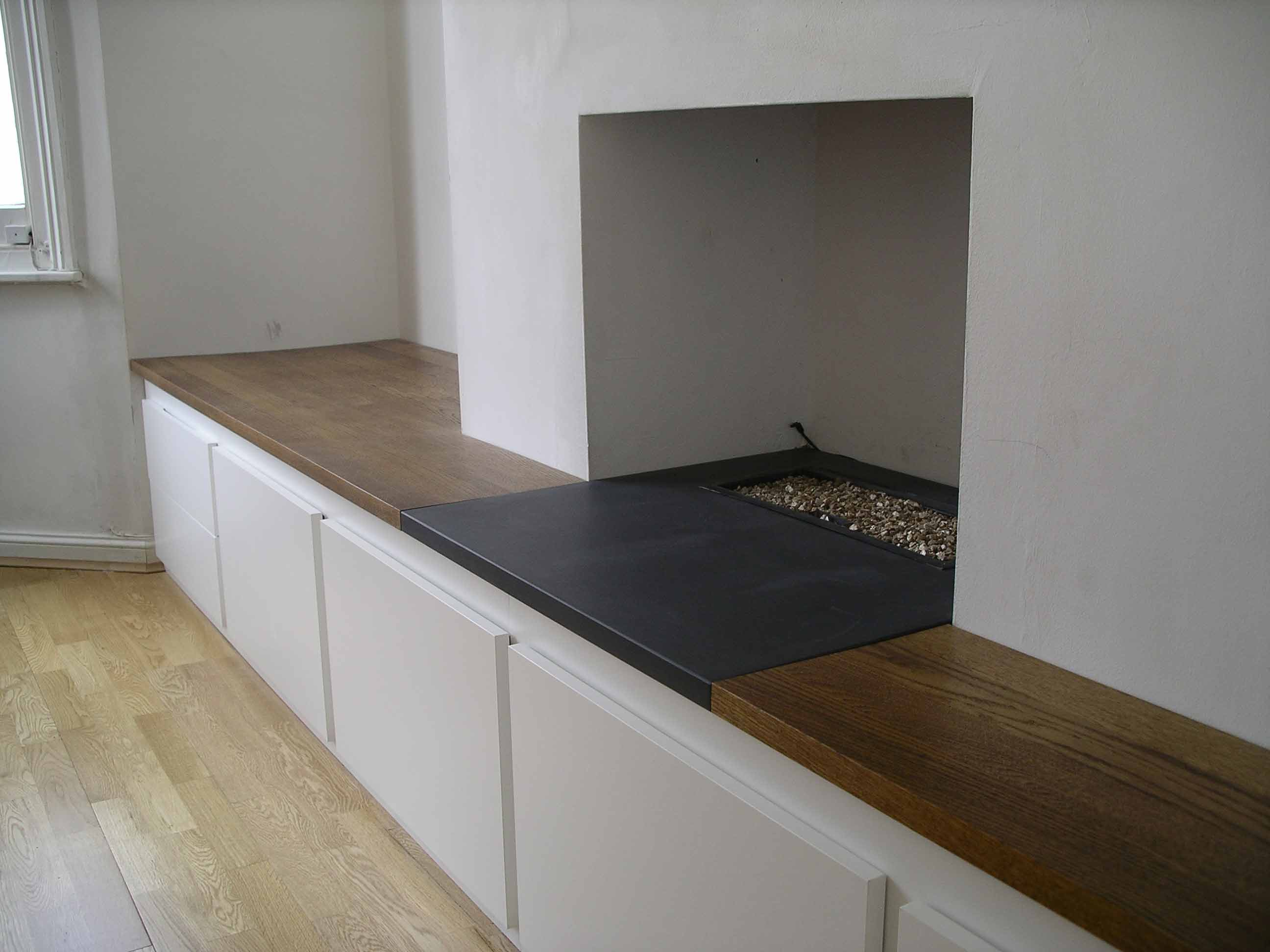 Chimney Alcove Linking Cabinet Bespoke Made By Peter