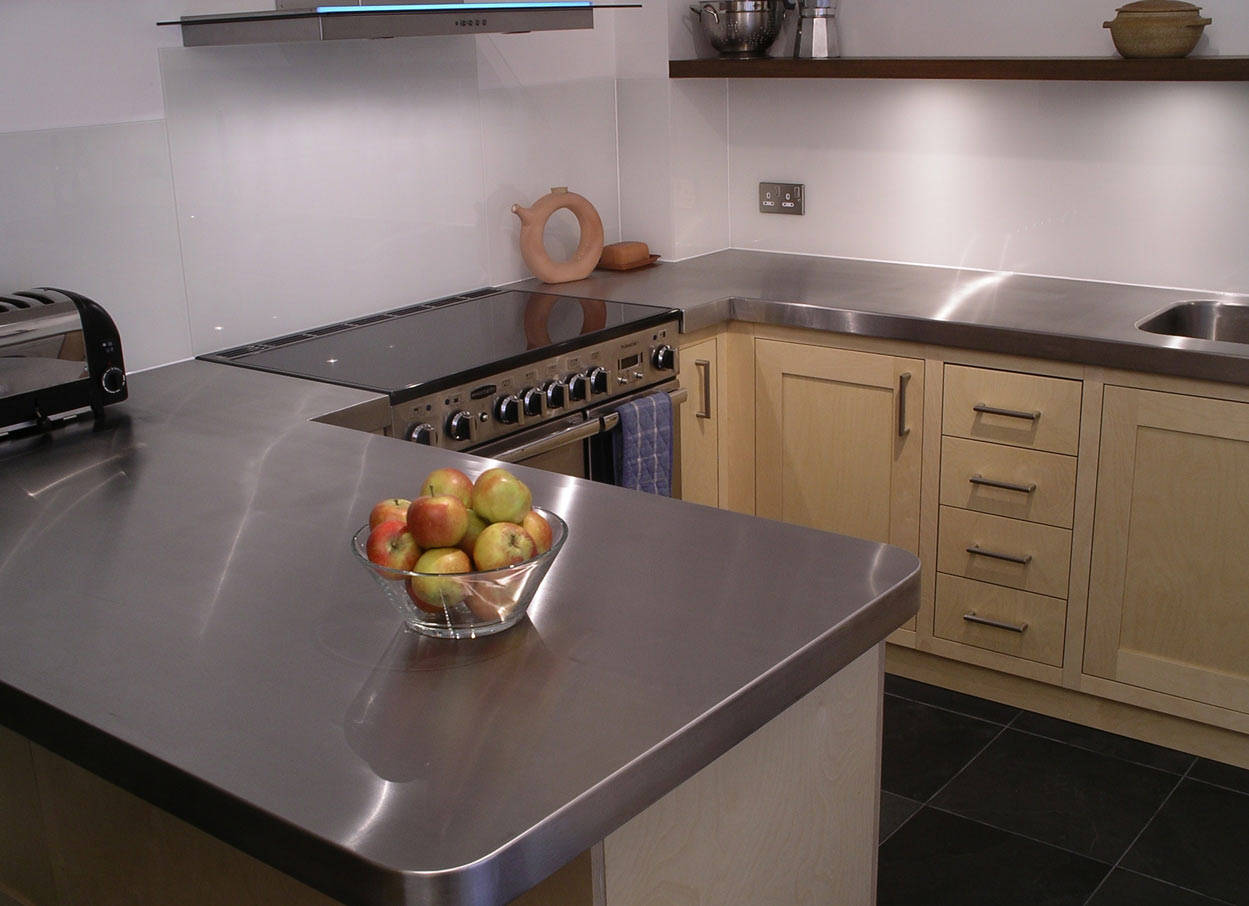 custom built birch ply and stainless steel kitchen by Peter ...