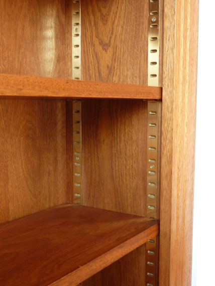 hardwood fitted bookcases custom built by Peter Henderson ...