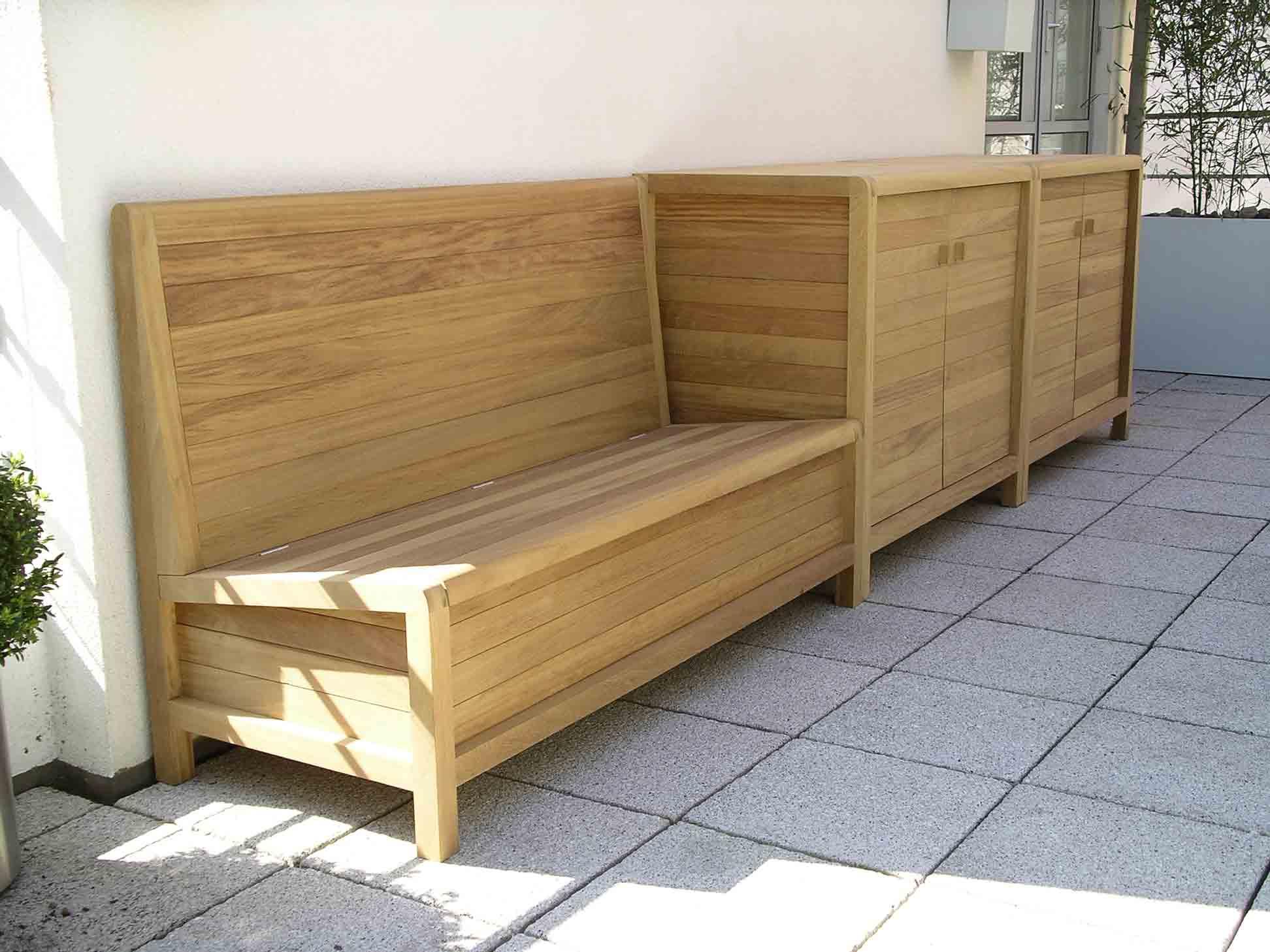 Iroko hardwood patio furniture by Peter Henderson