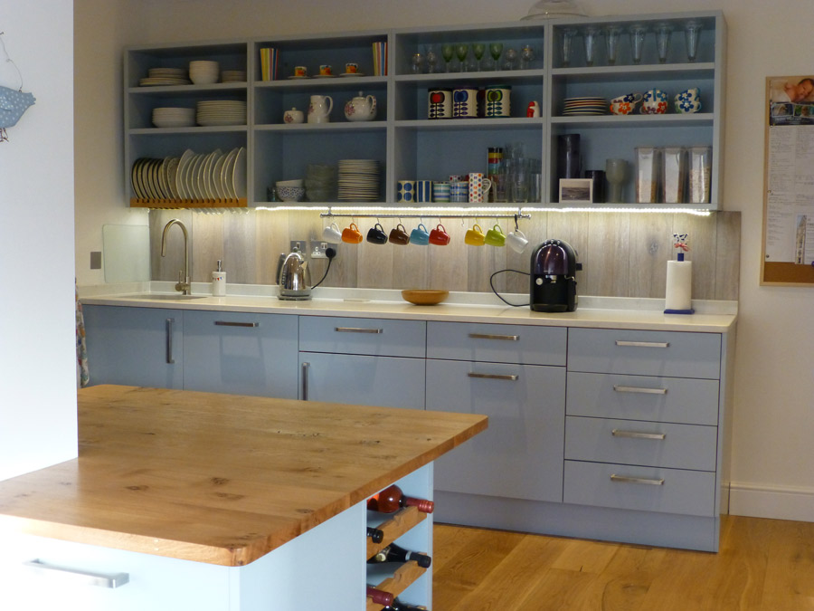 grey and pippy oak bespoke kitchen by Peter Henderson ...
