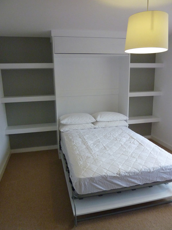 Pull Down Bed In Custom Made Cabinet By Peter Henderson