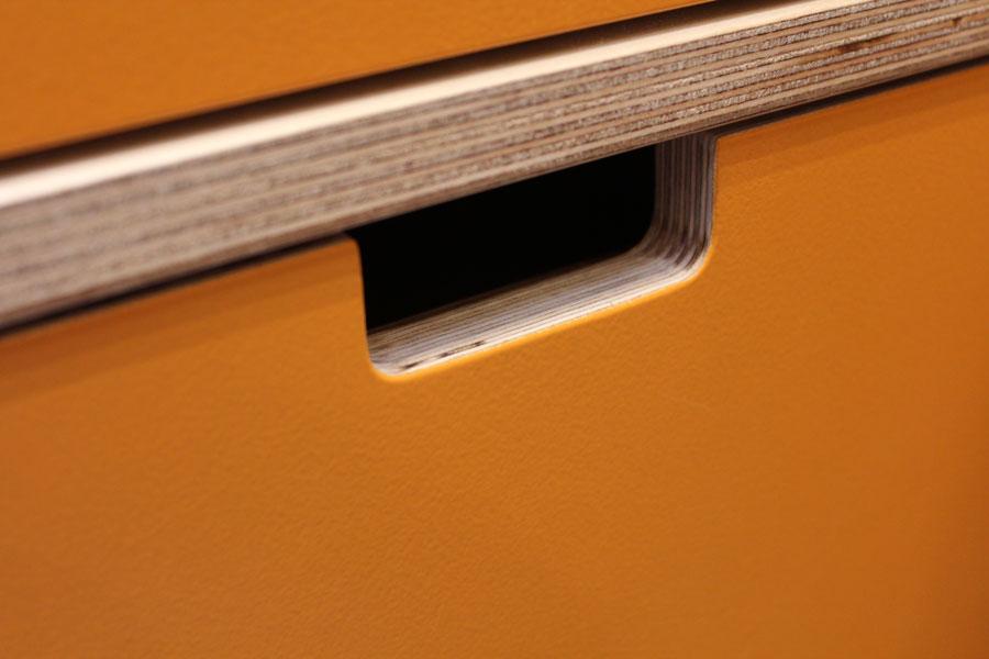 Orange Birch Ply Kitchen By Peter Henderson Furniture