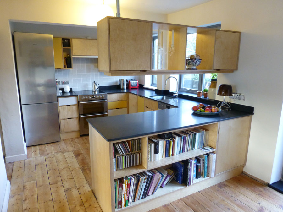 birch ply custom made kitchen by Peter Henderson Furniture, Brighton, UK