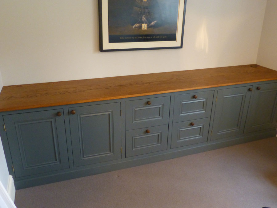 painted office furniture. painted in farrow and ball drainpipe no 26 office furniture