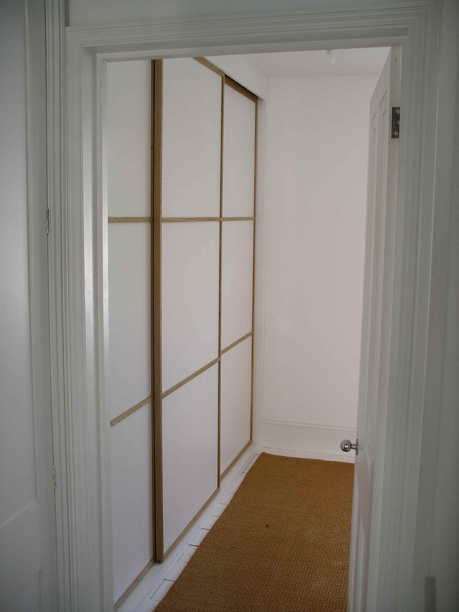 Japanese Sliding Doors Bespoke Made Wardrobe By Peter Henderson Furniture Brighton Uk