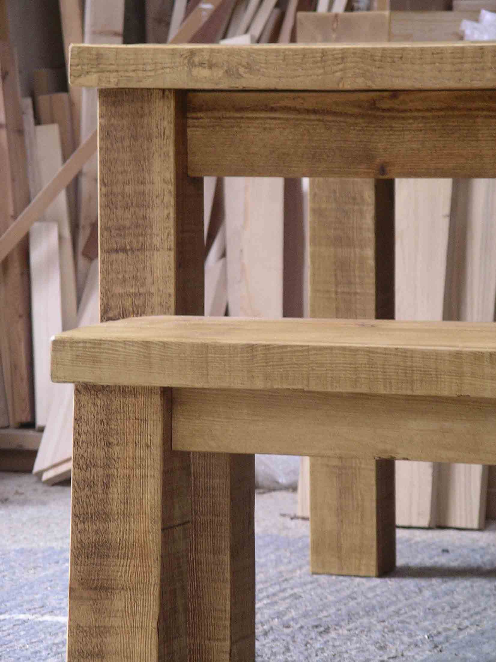Rustic Plank Tables By Peter Henderson Furniture Brighton Uk