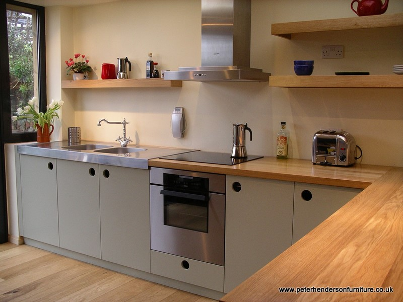 Bespoke Kitchen Design Painting oak and french grey kitchen bespoke designpeter henderson