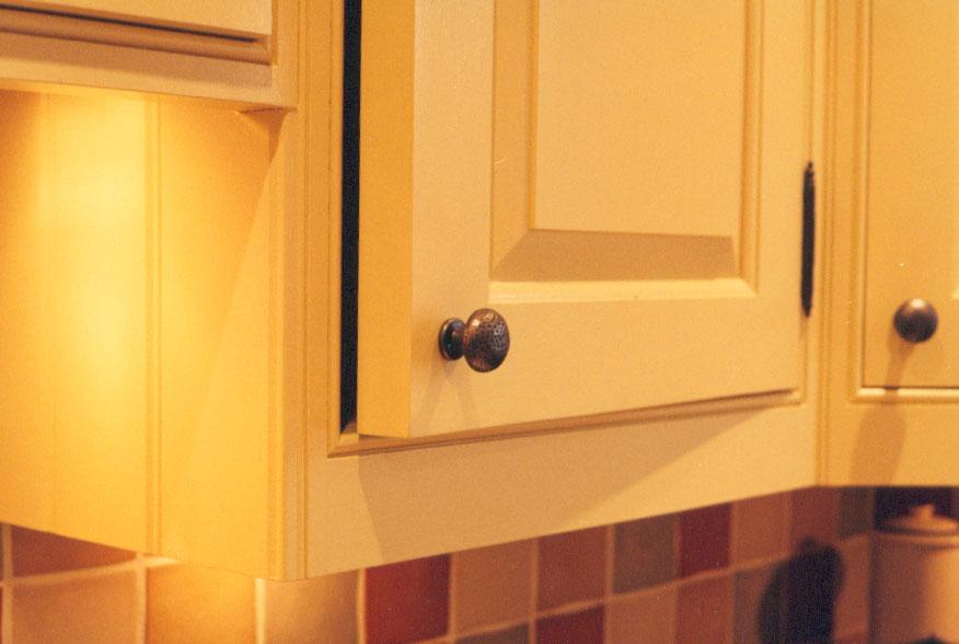 Painted Poplar Kitchen Cabinets