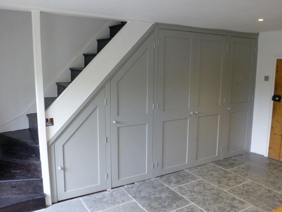 under stairs cupboard handmade by Peter Henderson Furniture Brighton