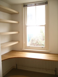 fitted home office in European oak