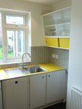 retro 1950's style bespoke kitchen
